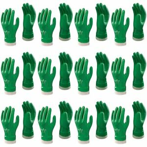 Atlas Atl600 Vinylove Green Pvc Coated Work Glove Medium 72 pair