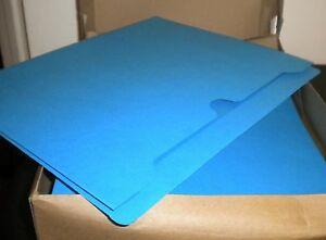 New 25 Staples File Jacket Folders 2 Expandable Reinforced Tab Letter Blue