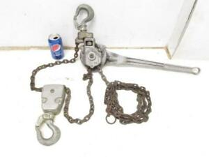 Coffing 1 1 2 Ton Model Ra 15 Chain Lever Ratchet Hoist Come Along Puller