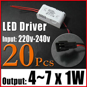 20 4 7x1w Led Power Driver Light Constant Current Regulated Transformer 220 240v