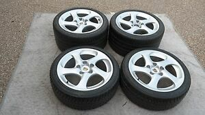 Porsche 996 993 Oem Factory Genuine Turbo Hallow Spokes 18 Wheel Tire