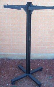 Store Display Fixtures Clothing Garment Rack On Rollers With T bars 59 Tall