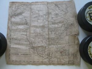 1810 North America Hemispheres Maps From Elijah Parish Modern Geography