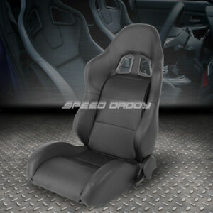 Pvc Leather Black Universal Full Reclinable Xl 06 Sports Style Racing Seat