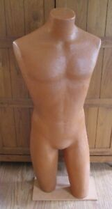 Male Mannequin Torso Teen Young Man W Stand Dress Form