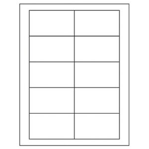1000 Business Card Labels W adhesive not Cards 2 X 3 1 2 Same Size As 5371