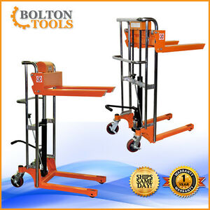 Bolton Tools Pallet Stacker Jack Lift Foot Operated 880 Lb Tf40 15