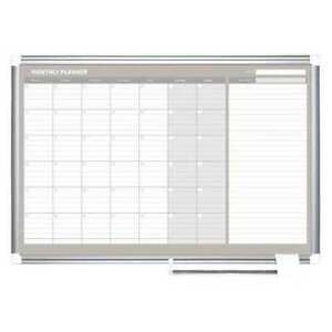 Magnetic Calendar Planning Board 25 63 64 x42 21 64 wall Mounted