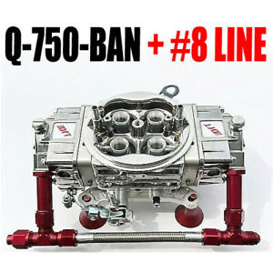 Quick Fuel Q 750 Ban Annular Clear Color Mech Blow Thru With 8 Line Kit New