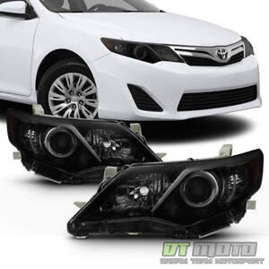 For Black Smoke 2012 2013 2014 Toyota Camry Headlights Headlamps Left Right