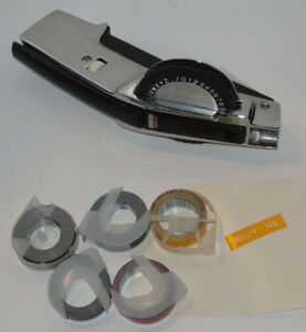 Dymo 1570 Chrome Tapewriter Label Maker Embossing Wheel 5 Partial Tapes Works