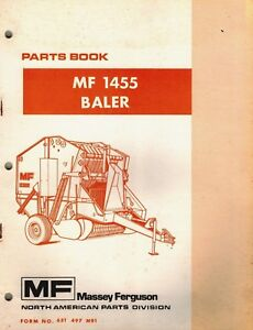 Massey Ferguson Mf 1455 Round Baler Parts Manual Mf 651 497 M91