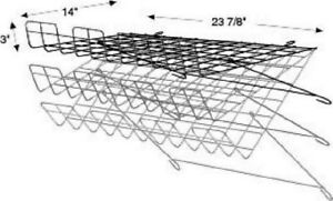 Store Display Fixtures New White Grid Wire Adjustable Wire Shelf 24 w X14 d