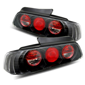 For 97 01 Honda Prelude Black Left right Altezza Tail Lights Rear Brake Lamps