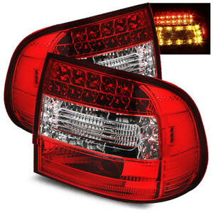 For 05 08 Porsche 997 991 Carrera Gt2 Gt3 Red Clear Lh Rh Led Tail Lights Lamps