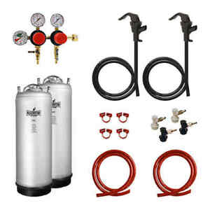 Kegerator com Hbk2p ms Two Keg Two Pressure Homebrew Conversion Kit With New Met
