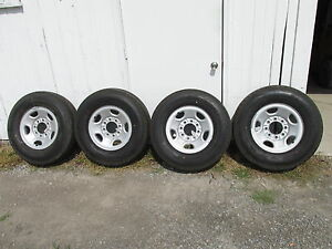 Gmc Chevy Truck Van 16 8 Lug On 6 5 Steel Wheels And Tires Oem