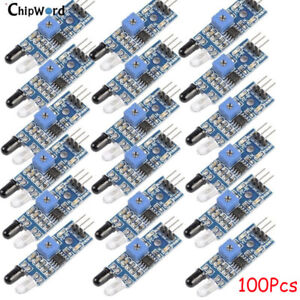 100x Obstacle Avoidance Sensor Module Ir Infrared For Arduino Smart Car Robot 5v