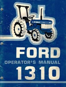 Ford 1310 Compact Utility Tractors Operator s Manual