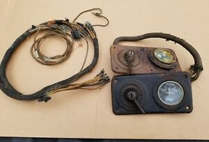 2 Antique 58 Model T Ford Dash Amp Gauge Ignition Light Switch Wires Harness