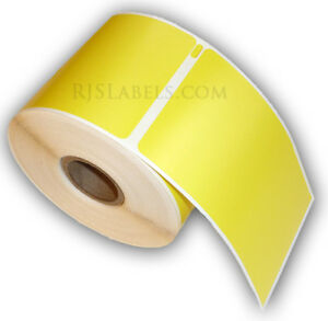 6 Rjs Yellow Shipping Labels 2 5 16 X 4 Compatible W dymo 30256
