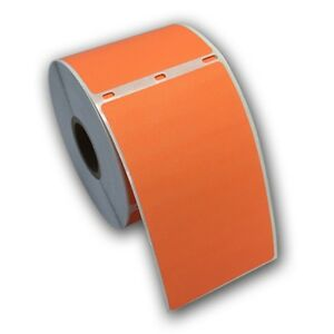 24 Rjs Orange Shipping Labels 2 5 16 X 4 Compatible W dymo 30256