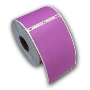 6 Rjs Purple Shipping Labels 2 5 16 X 4 Compatible W dymo 30256