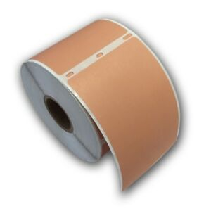 6 Rjs Copper Tan Shipping Labels 2 5 16 X 4 Compatible W dymo 30256
