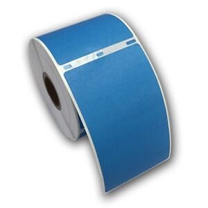 6 Rjs Blue Shipping Labels 2 5 16 X 4 Compatible W dymo 30256