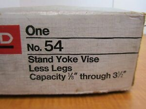 Ridgid No 54 Stand Yoke Pipe Vise 1 8 To 3 1 2 Capacity Nos Vise Only New Usa