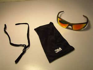 3m 11635 00000 10 Fuel X2 Red Mirror Scrtch rsstnt Polycarbonate Safety Glasses