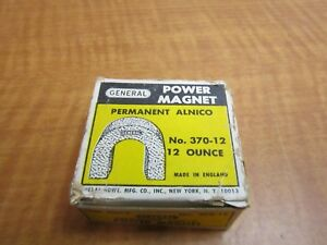 General Tools 370 12 Alnico Power Horseshoe Magnet 42 Lb Pull New Old Stock Usa