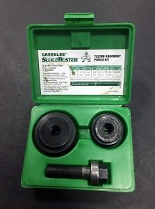 Greenlee Green Case Slug Buster Knockout Punch Set 7237bb 1 1 2 To 2 Conduit