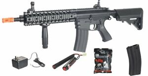 12B G2 Lancer Tactical M4 AEG Metal Gears Airsoft Rifle Gun BATTERY Charger $169.00