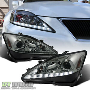 For 2006 2010 Lexus Is250 Is350 Led Projector Headlights W Daytime Running Lamps