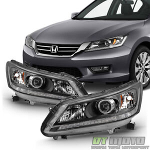 For 2013 2014 2015 Honda Accord Sedan Headlights Halogen Headlamps Left Right