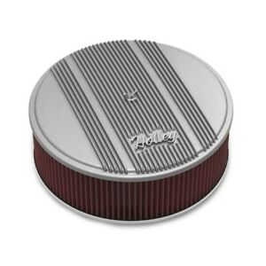 Holley 120 161 Round Raw Finned Air Cleaner Reusable Filter 14 X 4