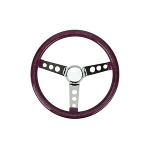 Speedway 13 Inch Red Metalflake 60s Style Steering Wheel 3 1 2 Dish