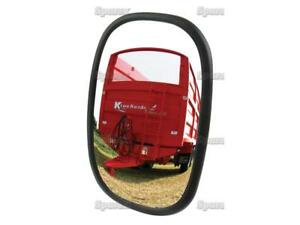 Universal Mount Tractor Cab Mirror 250x170mm Convex Clamp Style