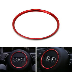 Red Wheel Center Decoration Ring Cover Trim For Audi A3 A4 A5 A6 Tt S3 S4 S5 S6