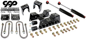 73 87 Chevy C10 Truck Rear Axle Flip Kit 5 Drop With C Notch Kit Shock Combo