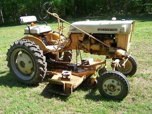 International Cub Tractor With Woods Finish Mower