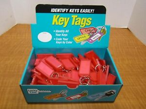 100 Lucky Line Red Code Id Key Tag W Label Ring Chains Display Luggage New