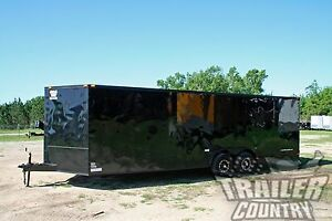 New 8 5 X 24 V Nose Enclosed Cargo Blacked Out Car Trailer Blackout Toy Hauler