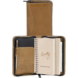 Scully Italian Leather Zip Pocket Planner Aloe Business Accessorie New