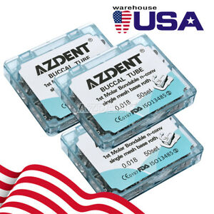 Azdent Dental Orthodontic Buccal Tube 1st Molar Roth 018 Bonding Non convertible