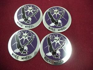 La Wire Wheels Chrome Purple Custom Wheel Decal 4