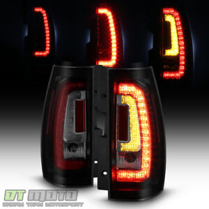 Update Style Black Smoke 2007 2014 Chevy Suburban Tahoe Led Tube Tail Lights