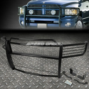 For 02 05 Dodge Ram 1500 3500 Black Coated Mild Steel Front Bumper Grill Guard