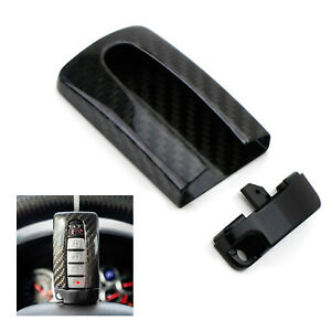 Carbon Fiber Gtr Style Key Fob Cover Case For Nissan Or Infiniti Oval Remote Key